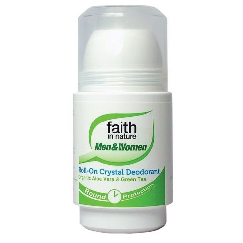 Aloe Vera - Zöld Tea - golyós sókristály dezodor - 50ml - Faith in Nature