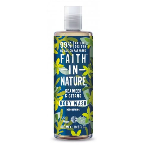 Bio Tengeri hínár és citrus tusfürdő - 400ml - Faith in Nature