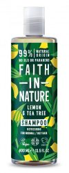 Citrom és Teafa sampon - 400ml - Faith in Nature
