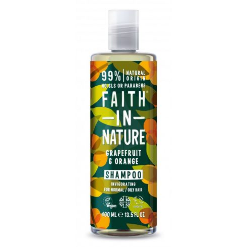 Grapefruit és Narancs Sampon - 400ml - Faith in Nature