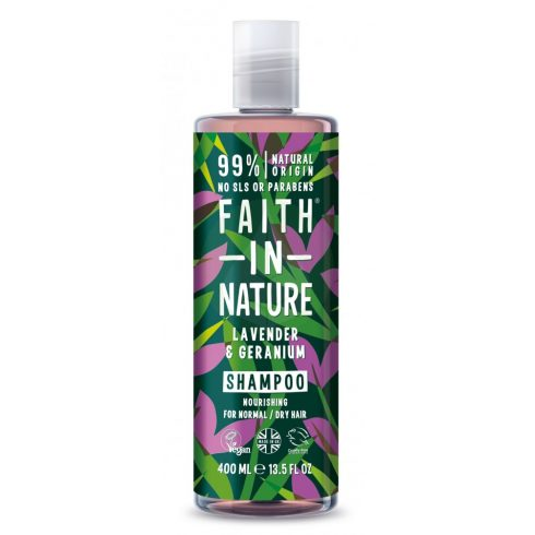 Levendula és Geránium sampon - 400ml - Faith in Nature