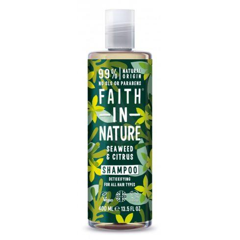 Bio Tengeri hínár és Citrus sampon - 400ml - Faith in Nature