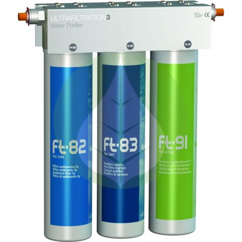 Pult alatti víztisztító - három lépcsős - FT-Line3 - Puricom Ionfilter