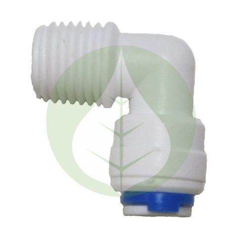 Patron bekötő csatlakozó - könyök - RO (Fordított ozmózis) víztisztító készülékekhez