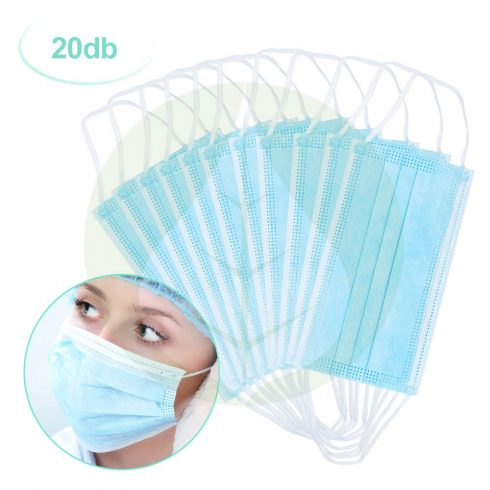 Orvosi légzésvédő maszk - 3 rétegű - 1x használatos